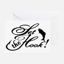 Set the Hook BLK Greeting Card