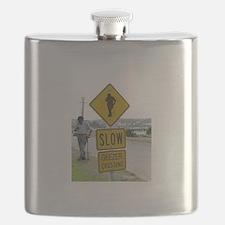 SLOW  GEEZER CROSSING Flask