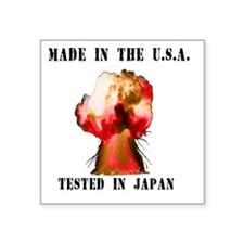 "Made in the USA Square Sticker 3"" x 3"""