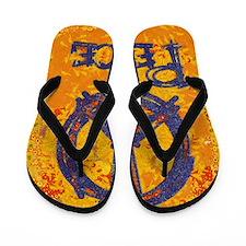 Gustav Klimt Peace Flip Flops