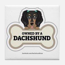 Owned by a Dachshund Tile Coaster
