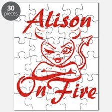 Alison On Fire Puzzle