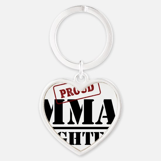 Proud MMA Fighter Heart Keychain