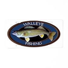 Walleye Aluminum License Plate