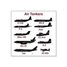 """Air Tankers, firefighting Square Sticker 3"""" x 3"""""""
