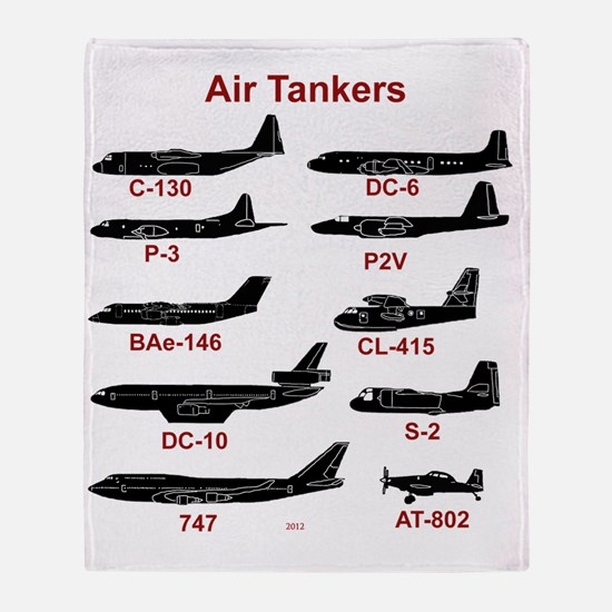 Air Tankers, firefighting Throw Blanket