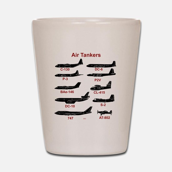 Air Tankers, firefighting Shot Glass