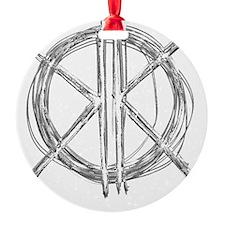 Gray Initials Ornament