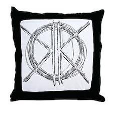 Gray Initials Throw Pillow