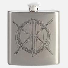Gray Initials Flask