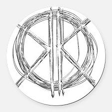 Gray Initials Round Car Magnet