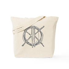 Gray Initials Tote Bag