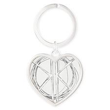 Light Initials Heart Keychain