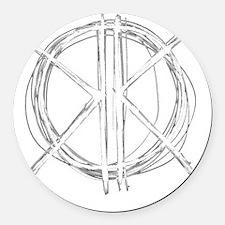 Light Initials Round Car Magnet