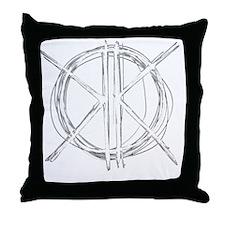 Light Initials Throw Pillow