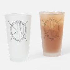 Light Initials Drinking Glass