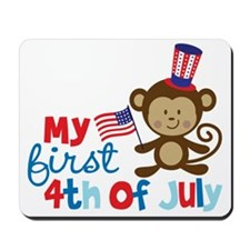 Monkey My First 4th of July Mousepad