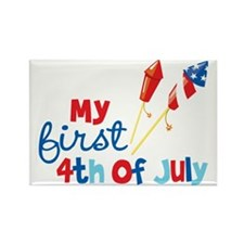 Rockets My First 4th of July Rectangle Magnet