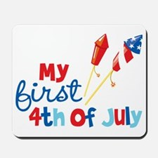 Rockets My First 4th of July Mousepad