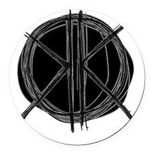 Dark Initials Round Car Magnet