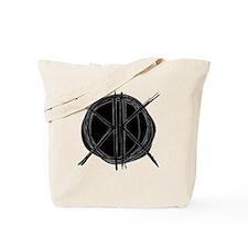 Dark Initials Tote Bag