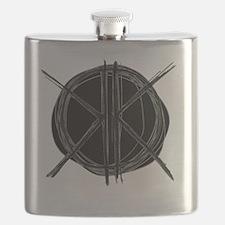 Dark Initials Flask