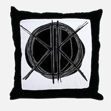 Dark Initials Throw Pillow
