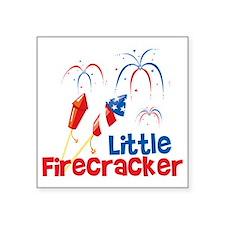 "4th of July Little Firecrac Square Sticker 3"" x 3"""