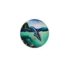 Dolphin Paradise Mini Button