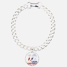 4th of July Little Firec Charm Bracelet, One Charm