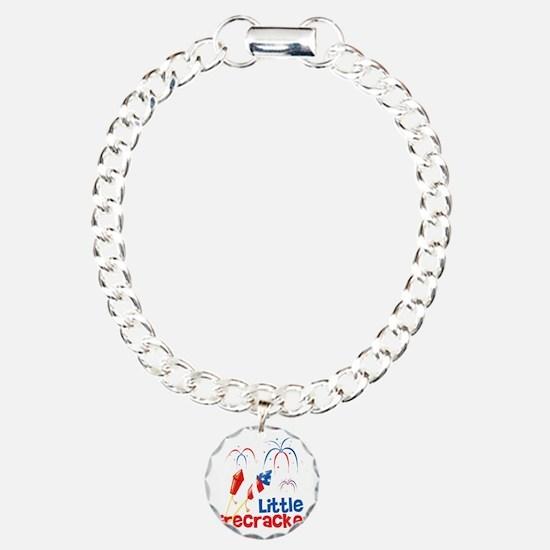4th of July Little Firec Charm Bracelet, One Charm