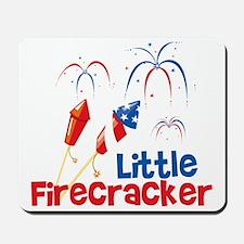 4th of July Little Firecracker Mousepad