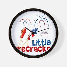4th of July Little Firecracker Wall Clock
