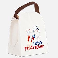 4th of July Little Firecracker Canvas Lunch Bag