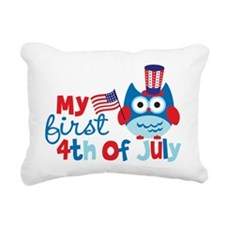 Owl My First 4th of July Rectangular Canvas Pillow