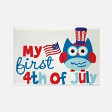 Owl My First 4th of July Rectangle Magnet