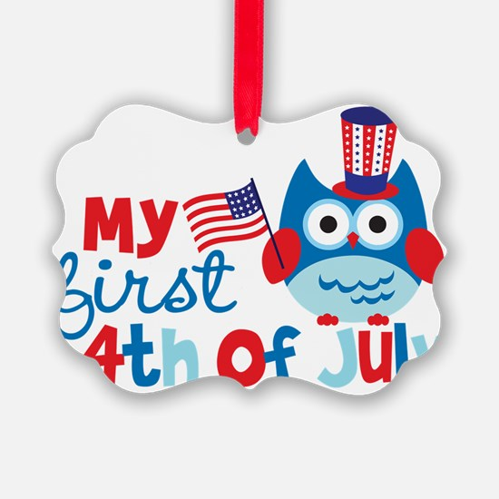 Owl My First 4th of July Ornament