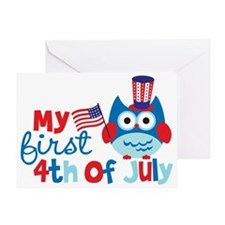 Owl My First 4th of July Greeting Card