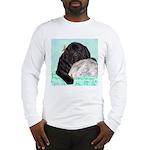 Sleepy Newfoundland Puppy Long Sleeve T-Shirt