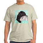 Sleepy Newfoundland Puppy Light T-Shirt