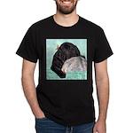 Sleepy Newfoundland Puppy Dark T-Shirt