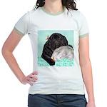 Sleepy Newfoundland Puppy Jr. Ringer T-Shirt