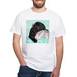 Sleepy Newfoundland Puppy White T-Shirt