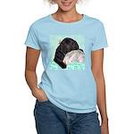 Sleepy Newfoundland Puppy Women's Light T-Shirt