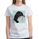 Sleepy Newfoundland Puppy Women's T-Shirt