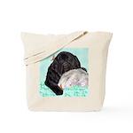 Sleepy Newfoundland Puppy Tote Bag