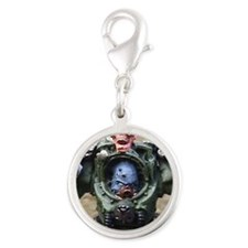 Zombie Lord Silver Round Charm