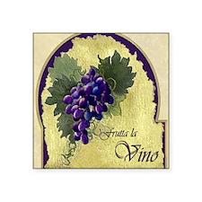 """Wine Label Square Sticker 3"""" x 3"""""""