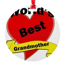 Worlds Best Grandmother Ornament