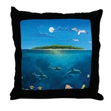 Island Dolpins Throw Pillow